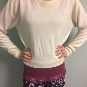 Cropped Off white express sweater shorter …